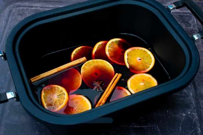 Mulled Wine with Orange Liqueur in the Slow Cooker