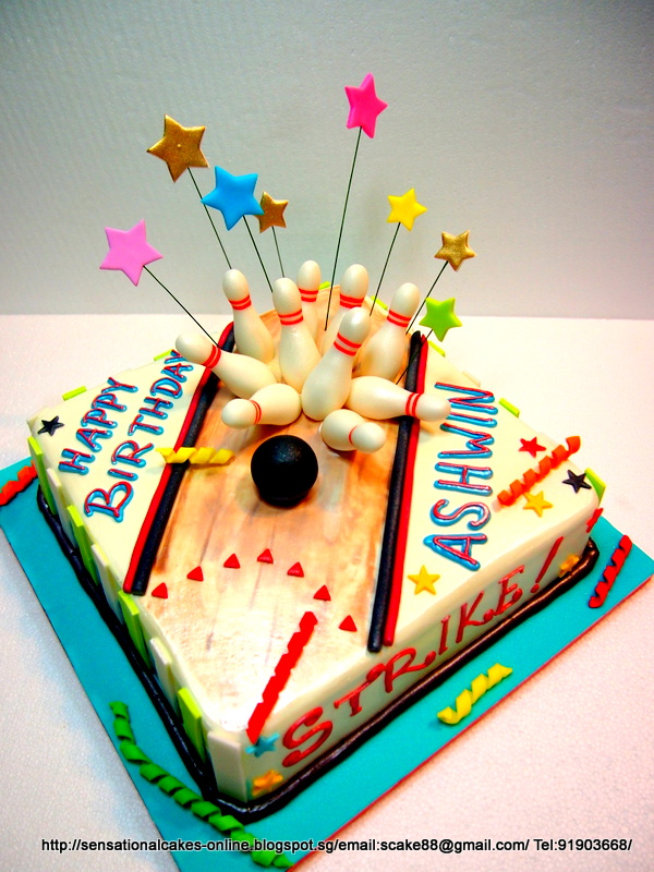 The Sensational Cakes Bowling 10 Pin Strike Cake Singapore