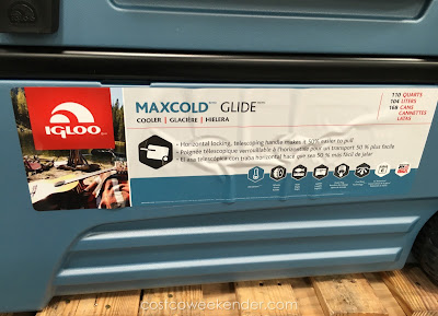 Adult beverages will stay that much cooler in the the Igloo Maxcold Glide 110qt Rolling Cooler