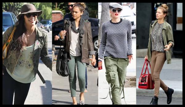 Mode femme en veste militaire
