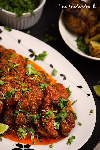 Bhuna Chicken recipe with step by step pictures