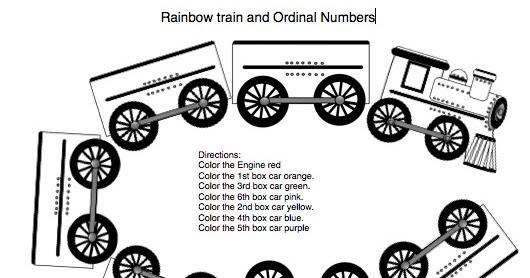 Classroom Freebies Too: Rainbow Train and Ordinal Numbers