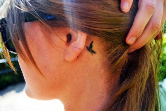 awesome small butterfly tattoos behind the ear