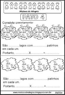 Tabuada de multiplicação do 4 ilustrada