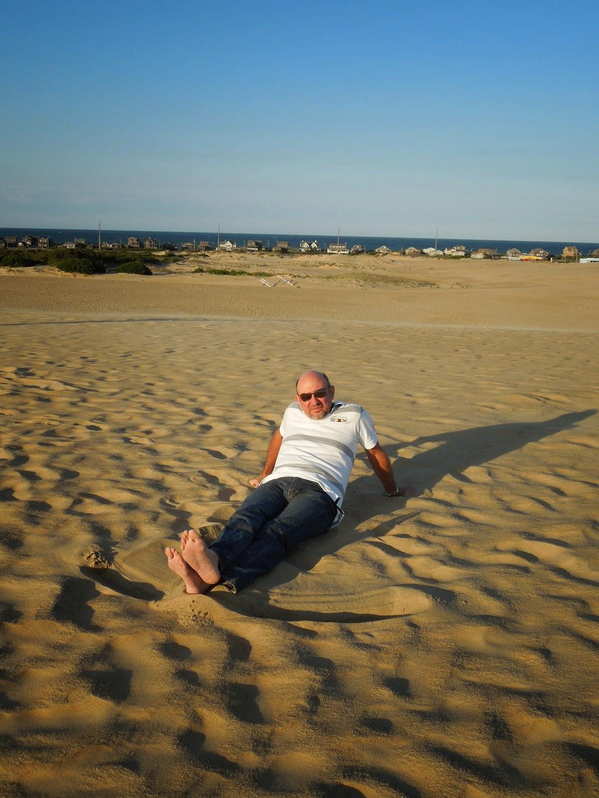 Ron on dunes
