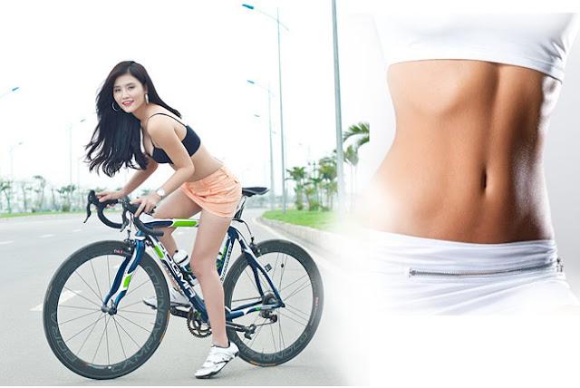 Đi xe đạp giảm mỡ bụng nhanh chóng