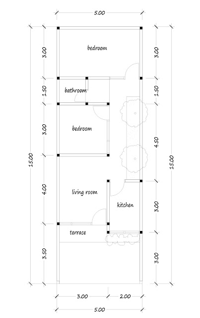 floor plan of narrow house 05