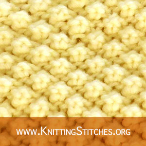 BOBBLE KNITTING - Trinity stitch pattern. Knitting Techniques: The Bobble. #BobbleKnitting
