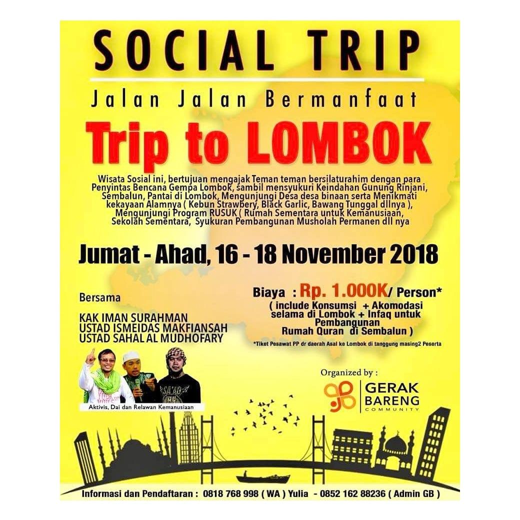 SOCIAL TRIP (JALAN JALAN BERMANFAAT KE LOMBOK)