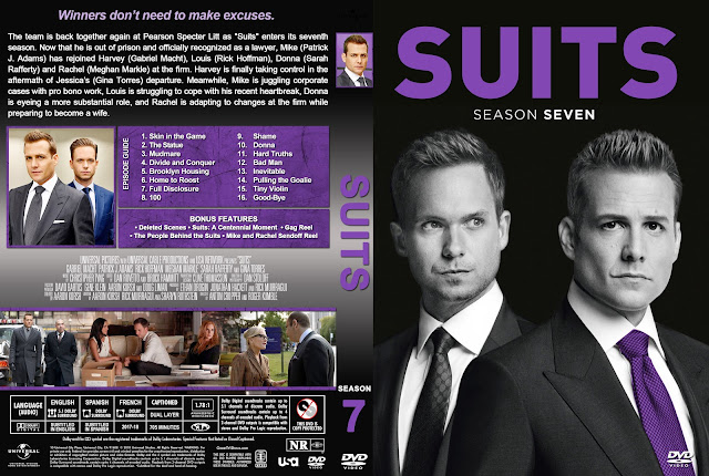 Suits Season 7 DVD Cover