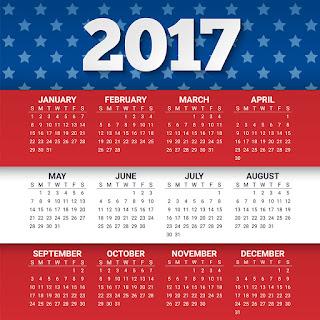 2017カレンダー無料テンプレート145