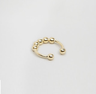 ASOS Gold Plated Sterling Silver Faux Septum Nose Cuff