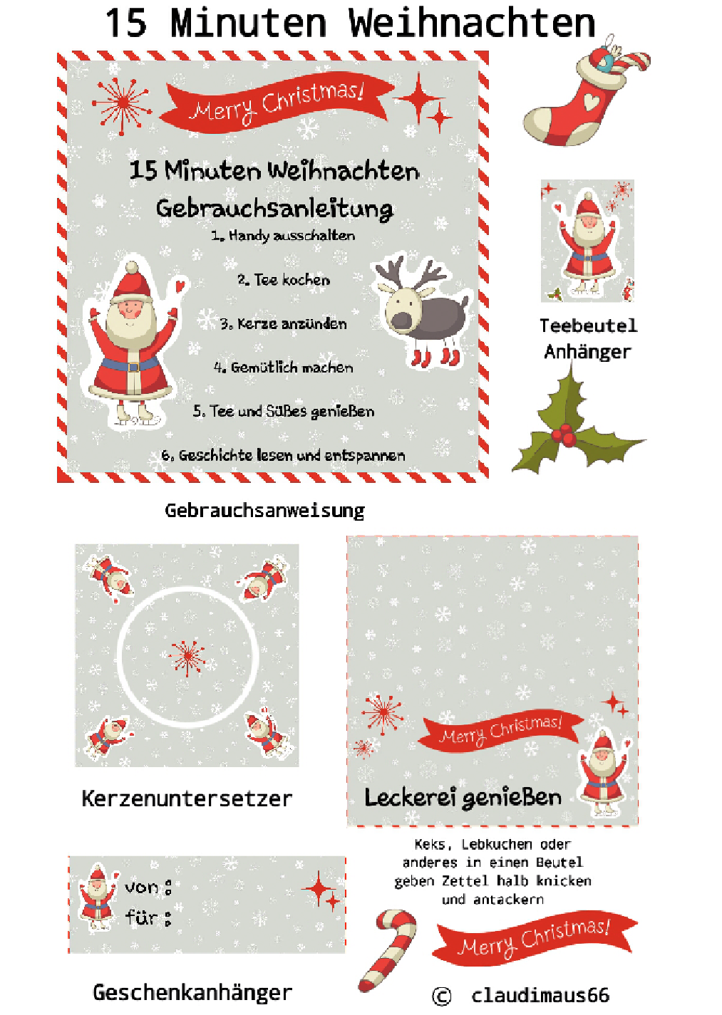 kochen und backen mit claudia 15 minuten weihnachten. Black Bedroom Furniture Sets. Home Design Ideas