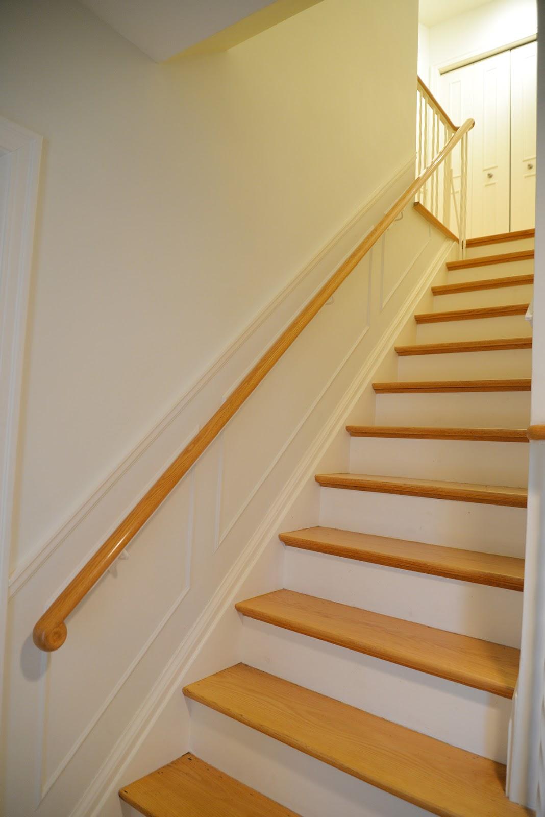 Entryway Refresh Stair Railing Update Rambling Renovators | Iron Handrails For Stairs Interior | Wall Mounted | Balcony | Dark Brown | Room Divider | Custom