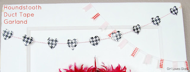 Houndstooth Duct Tape Valentine Garland