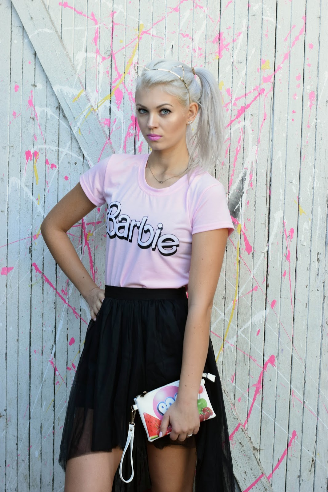 Irisie, tulle skirt, barbie shirt, barbie, german blondy