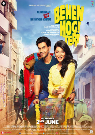 Behen Hogi Teri 2017 Full HDRip 720p Hindi Movie Download