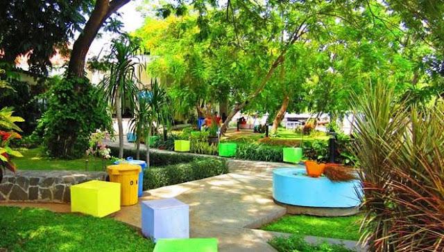 Taman Jangkar Surabaya dengan berbagai wahana permainan