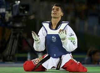 احمد ابوغوش بطل التايكوندو يبدع في ريو 2016