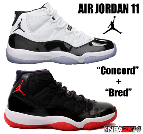 NBA 2K14 Air Jordan 11 Bred & Concord