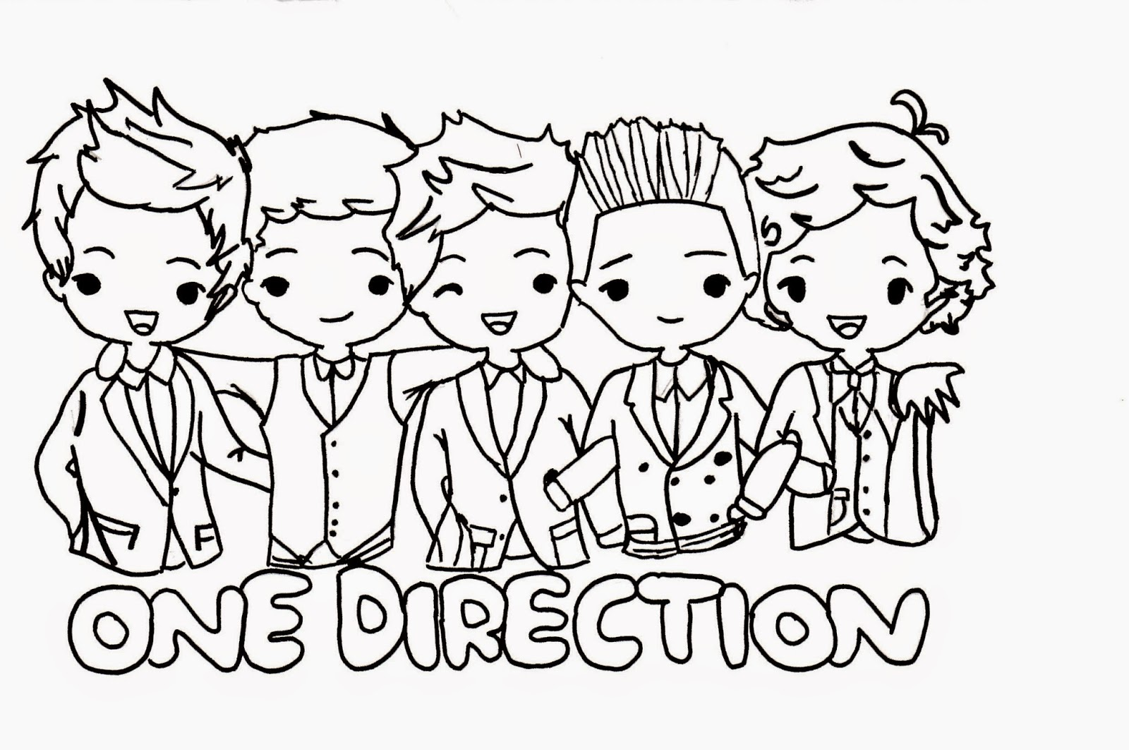 1D Fan Page..: One Direction Coloring Pages