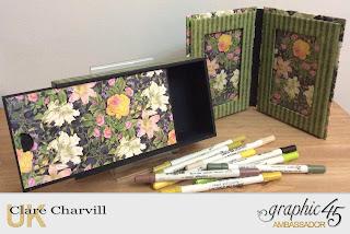 Vintage Pencil Case & Double Photo Frame Floral Shoppe Graphic 45