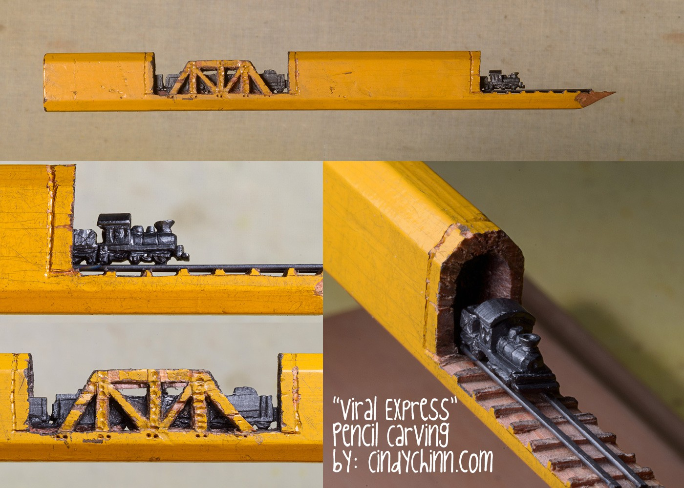 16-Viral-Express-Train-Cindy-Chinn-Miniature-Carvings-of-Pencil-Graphite-www-designstack-co