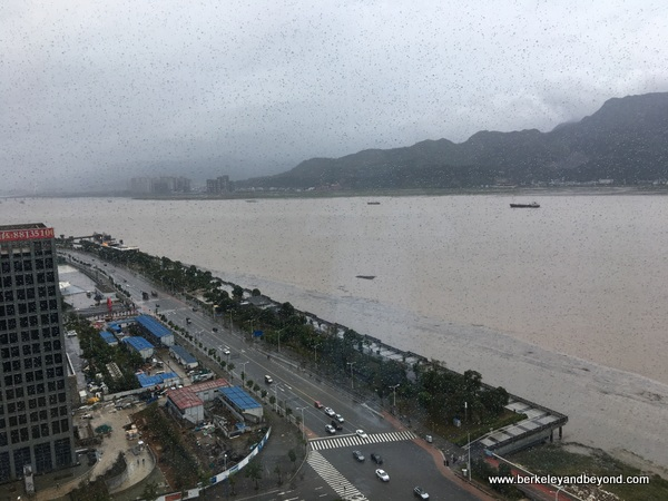view from guest room at Shangri-La Hotel, Wenzhou in Wenzhou, China
