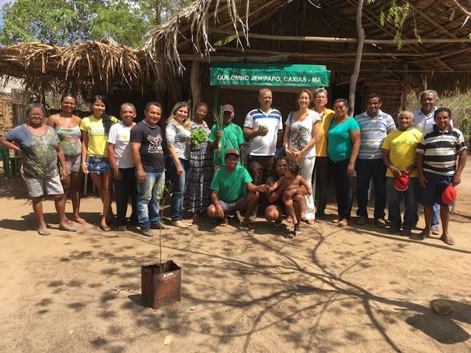 CAXIAS: Aureamélia Soares visita produção agrícola do povoado quilombola Jenipapo