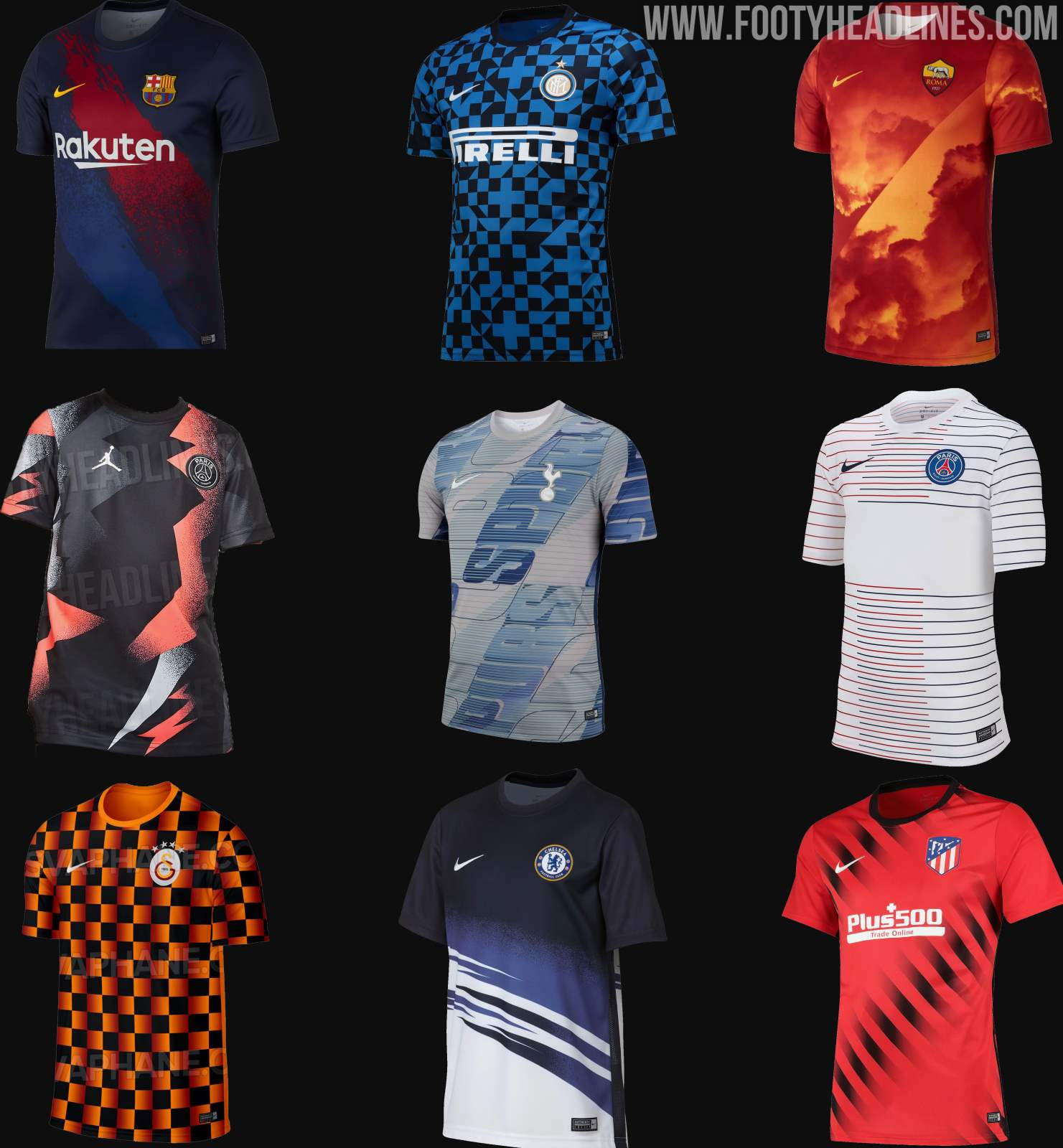 new product b9429 fef3d All Unique - All Nike 19-20 Pre-Match Jerseys Released ...