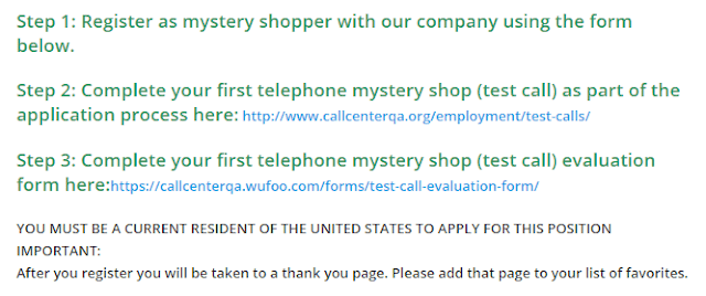 Telephone mystery shopping jobs