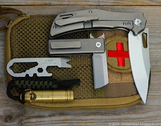 Fura Gear titanium flipper, Mini Fricbric, SRM prybar, Zanflare F6