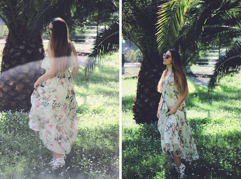Maxi Tiered Floral Dress Outfit Fashion Blogger Aimerose France