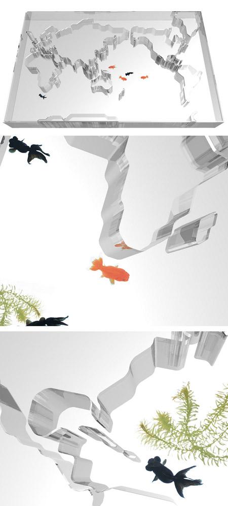 Pecera o acuario único