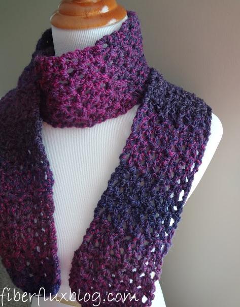 Fiber Flux Free Crochet Patternberry Pie Scarf
