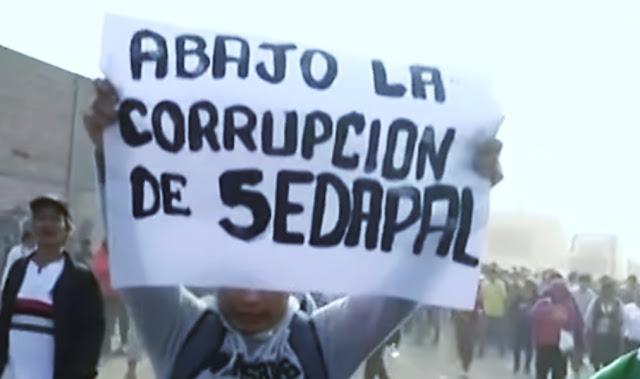 Huachipa: cientos marchan para exigir a Sedapal obras de agua potable