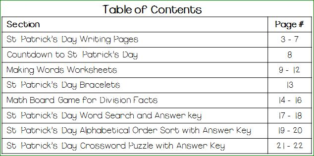 St-patrick's-day-worksheets