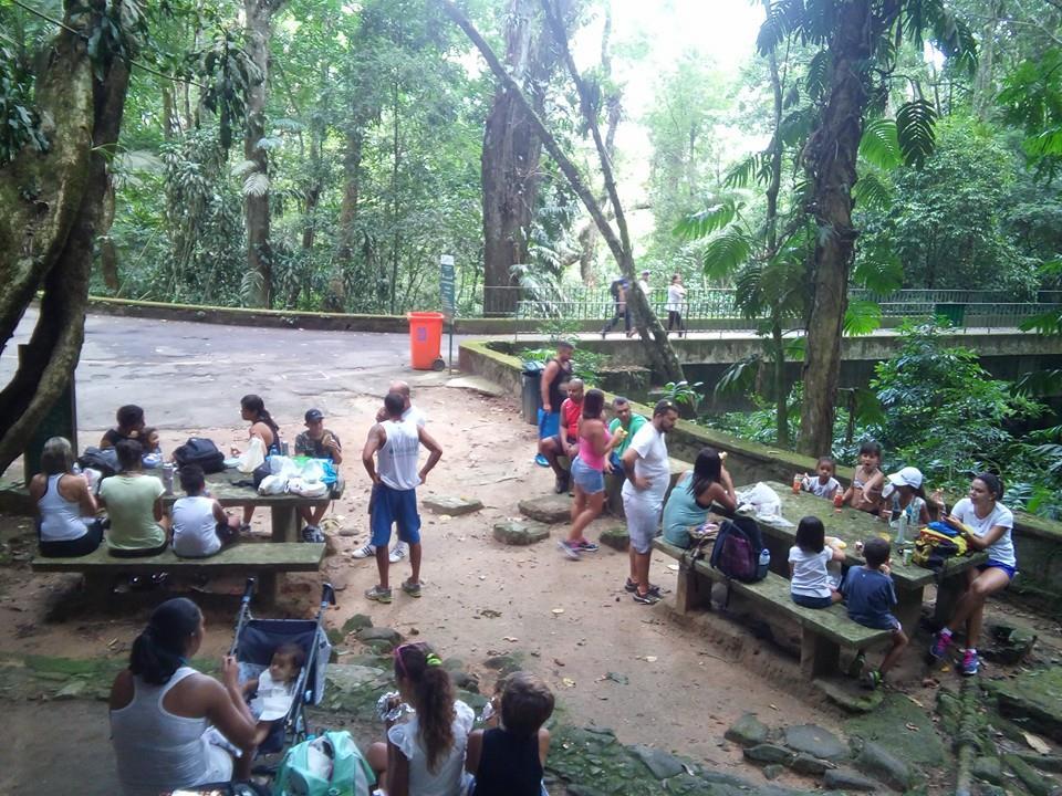 Pausa para o lanche na Floresta da Tijuca