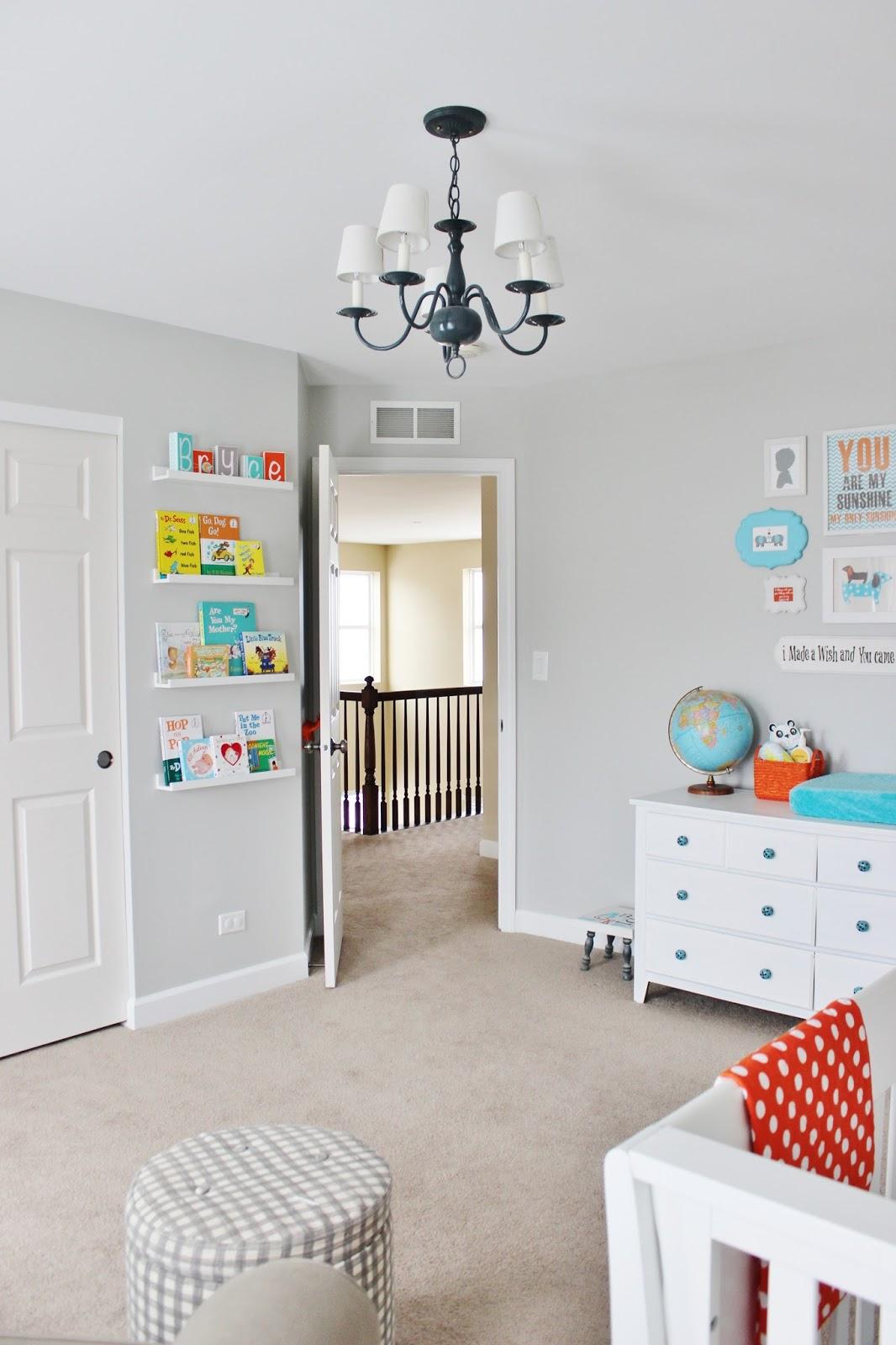 Delightfully Noted Home Tour - Modern Fresh Farmhouse Decorating Ideas - Little Boys Room Nursery - Book Wall Decorating Ideas