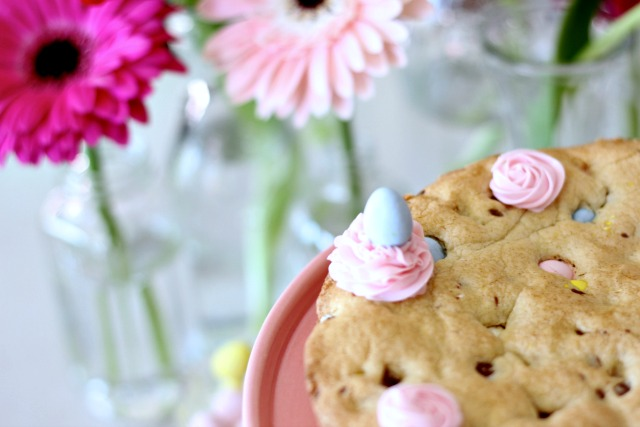 Easter baking with mini eggs