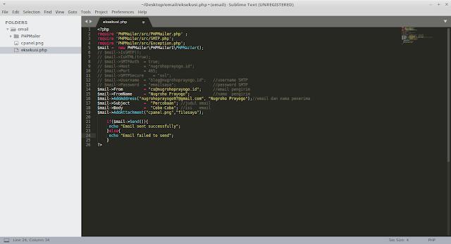 Cara Mudah Membuat PHP Bisa Mengirim Email Secara Otomatis