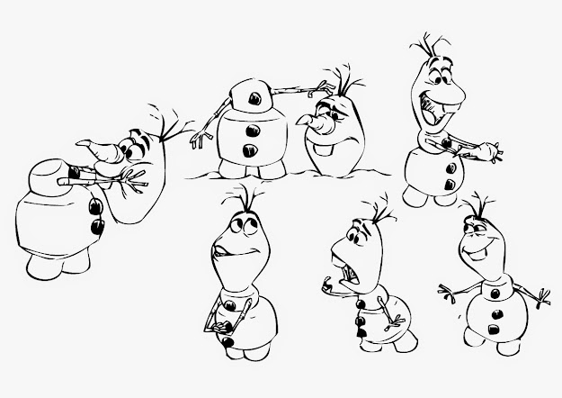 Frozen Coloring Page Olaf