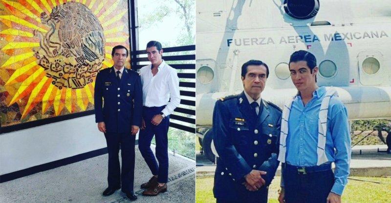 General asegura que las fotos de su hijo no son de verdad y que tampoco estuvo en el avión