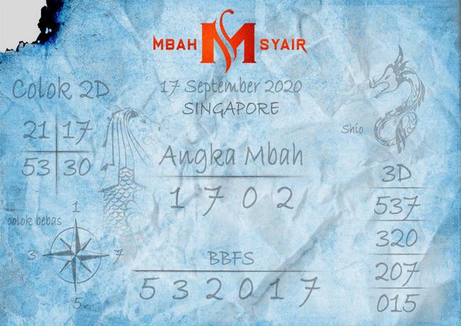Kode syair Singapore Kamis 17 September 2020 187