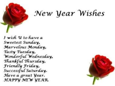 Pari Khambra: New Year Wishes Greetings Images In English