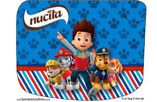 Etiqueta Nucita para Imprimir Gratis de Paw Patrol.