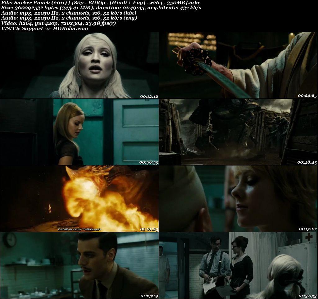 Sucker Punch (2011) [480p - BDRip - [Hindi + Eng] - x264 - 350MB Screenshot