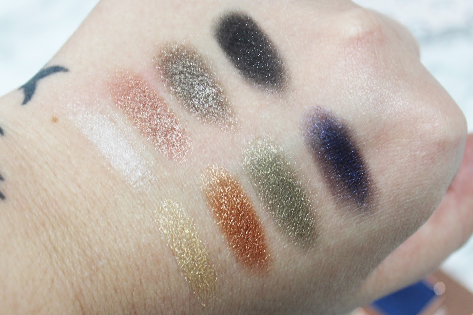 Lorac Rose Gold Swatches