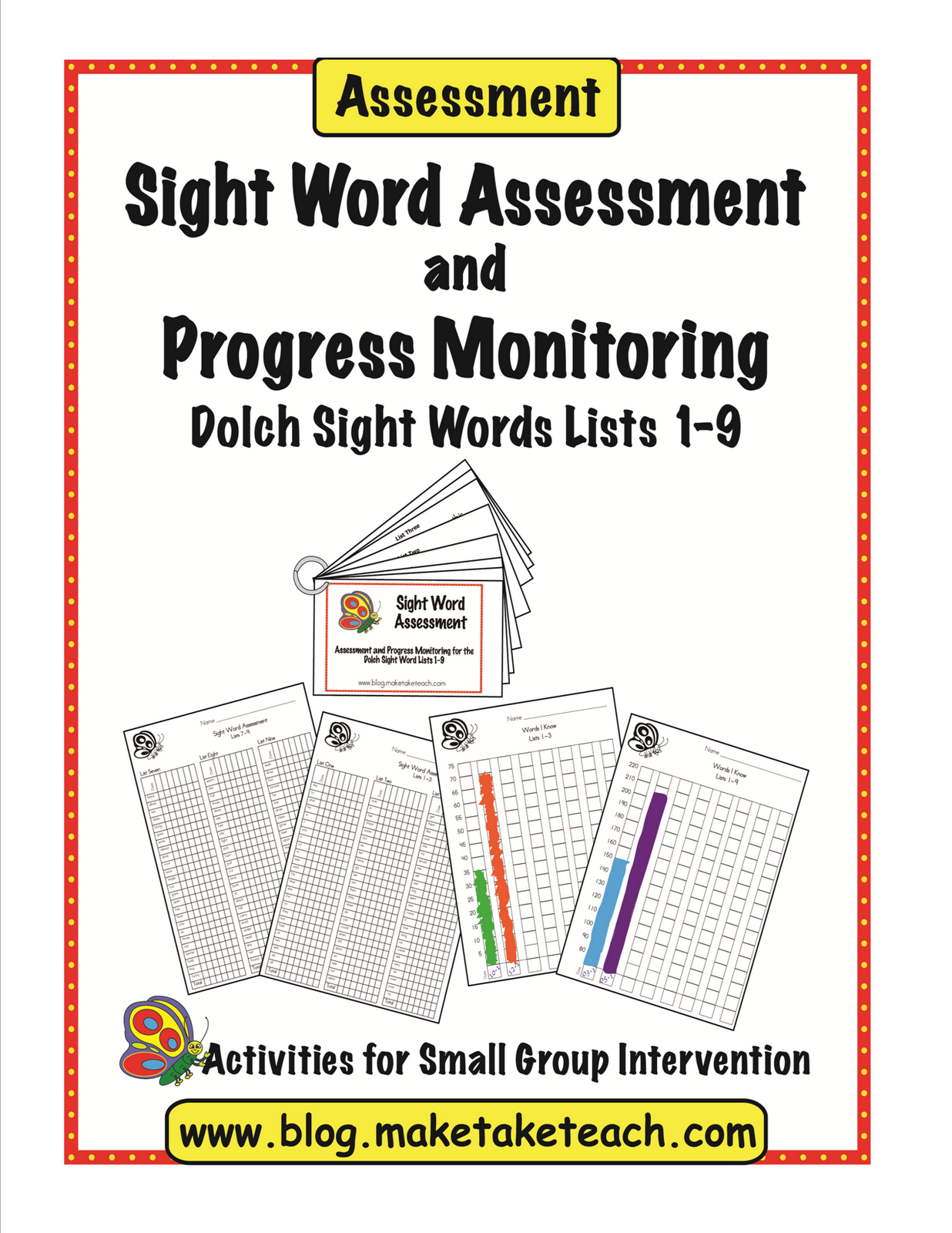 Free Dolch Sight Word Assessment And Progress Monitoring