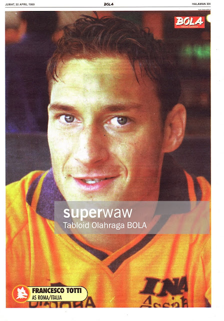 FRANCESCO TOTTI AS ROMA ITALY